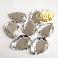 Клеевые стразы  Crystal 10*14мм, цена за 1шт