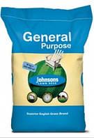 Трава газонная универсальная Johnsons 10 кг - семена газонной травы для затененных и солнечных участков.