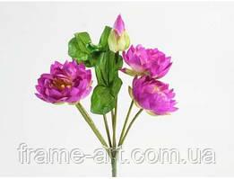 Букет Лотосы 37см e33084 фиолетовый