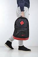 Рюкзак спортивный черный верх , красный низ, сумка Nike, Найк, Р1298
