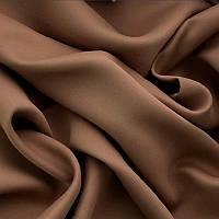 Однотонная ткань для штор Блэкаут Шоколадный