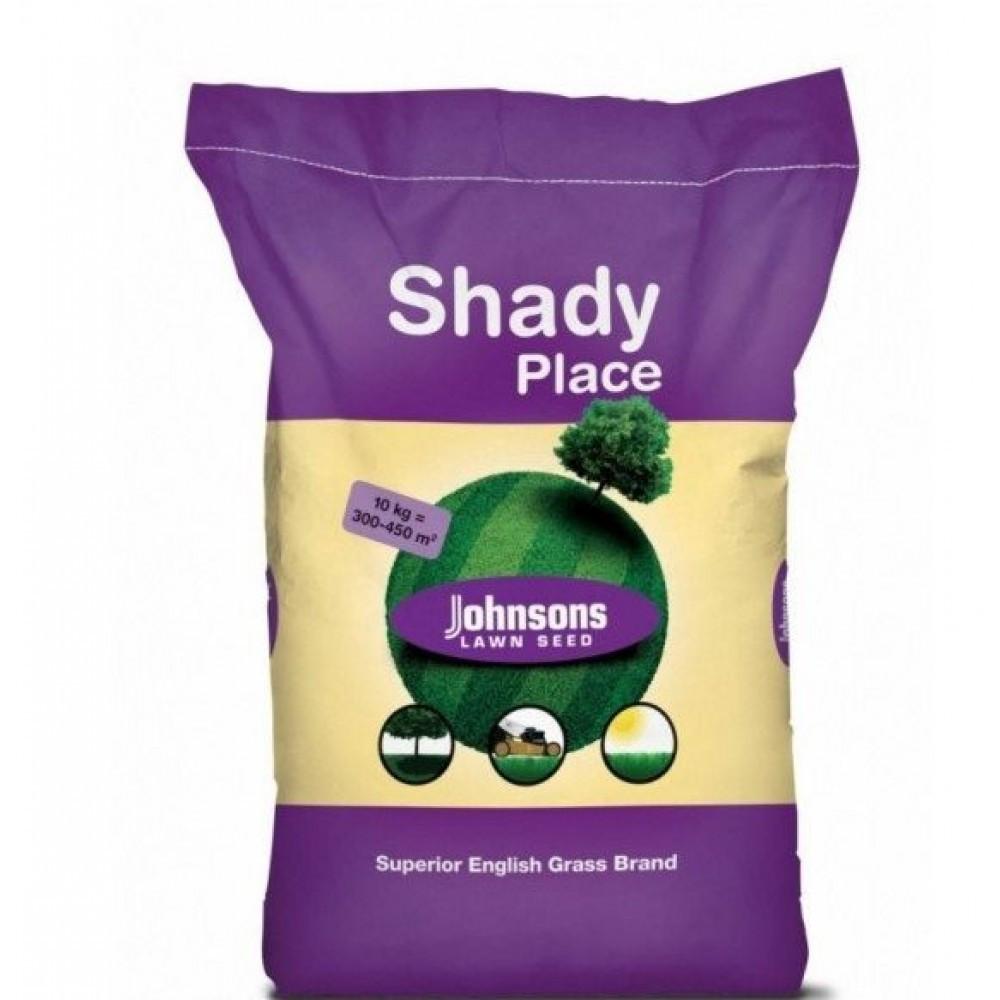 Трава газонная теневая Johnsons 10 кг — семена газонной травы для затененных участков. Тенеустойчивая