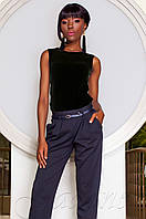 Нежная черная блуза Рокси Jadone Fashion 42-48 размеры