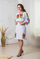 Платье вышиванка Маки