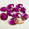 Клеевые стразы Purple 10*14мм, цена за 1шт