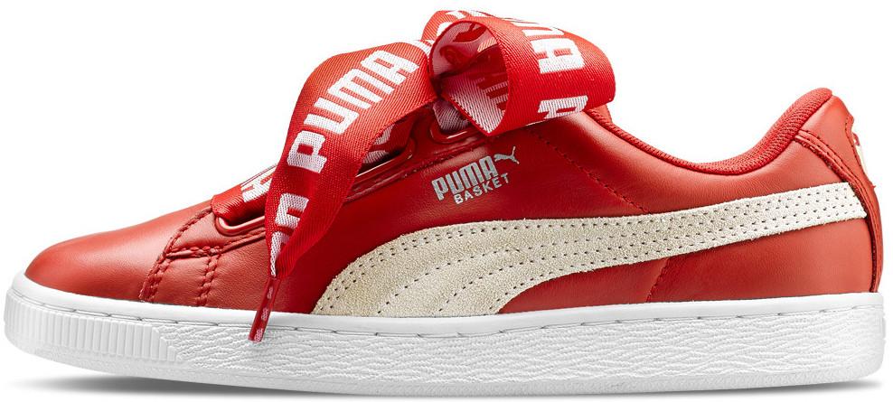 Женские кроссовки Puma x Rihanna Basket Heart Red, Пума Риана