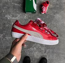 Женские кроссовки Puma x Rihanna Basket Heart Red, Пума Риана, фото 2