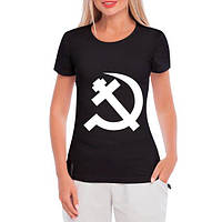 GlobusPioner Женская футболка Серп и крест 64351
