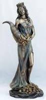 Статуэтка Фортуна с рогом изобилия 22см, фото 1