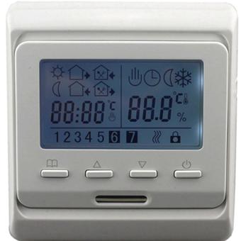 Программируемый терморегулятор Е51 недельный (с монтажной коробкой)