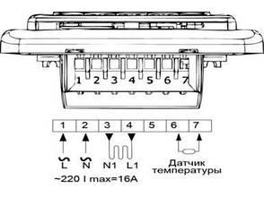 Программируемый терморегулятор Е51 недельный (с монтажной коробкой), фото 2