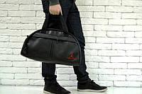 Сумка черная с вышитым логотипом Джордан, Jordan, Р1605