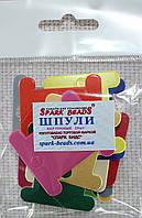 Шпули картонные цветные для мулине (микс 20 шт)