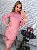 Шикарное платье с кружевом нежного цвета