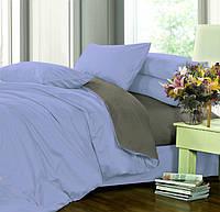 Полуторное (простынь на резинке) постельное белье - Сатин однотонный, микс №4032+№240
