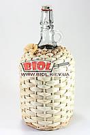 """Бутылка 2,0л стеклянная с бугельной крышкой """"Венеция"""" оплетенная кукурузой"""