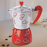 Гейзерная кофеварка 2 чашки Hearts R16594