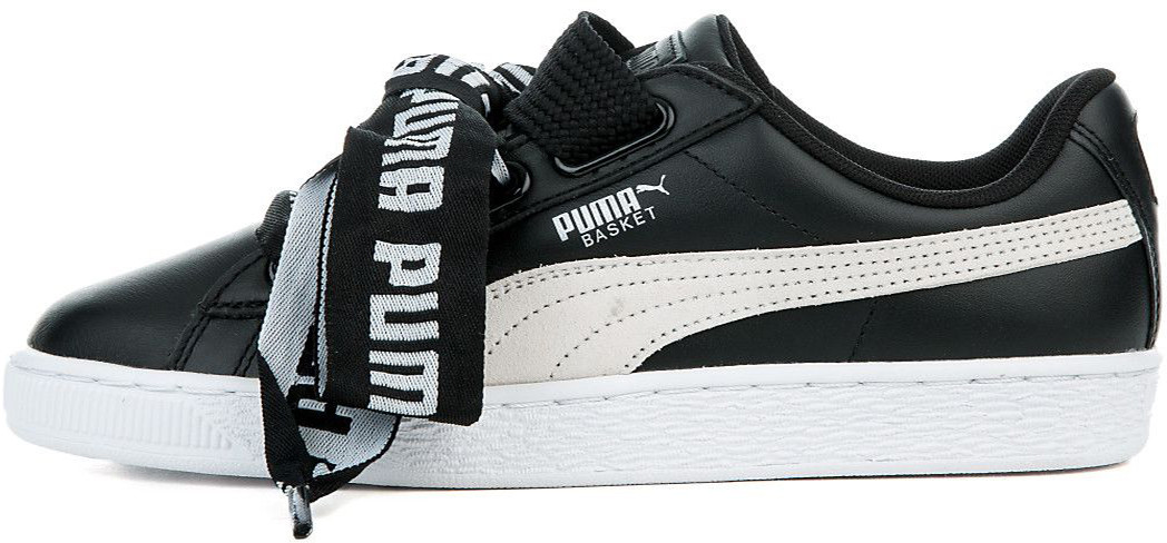 new products a04d6 dd073 Женские кроссовки Puma x Rihanna Basket Heart Black