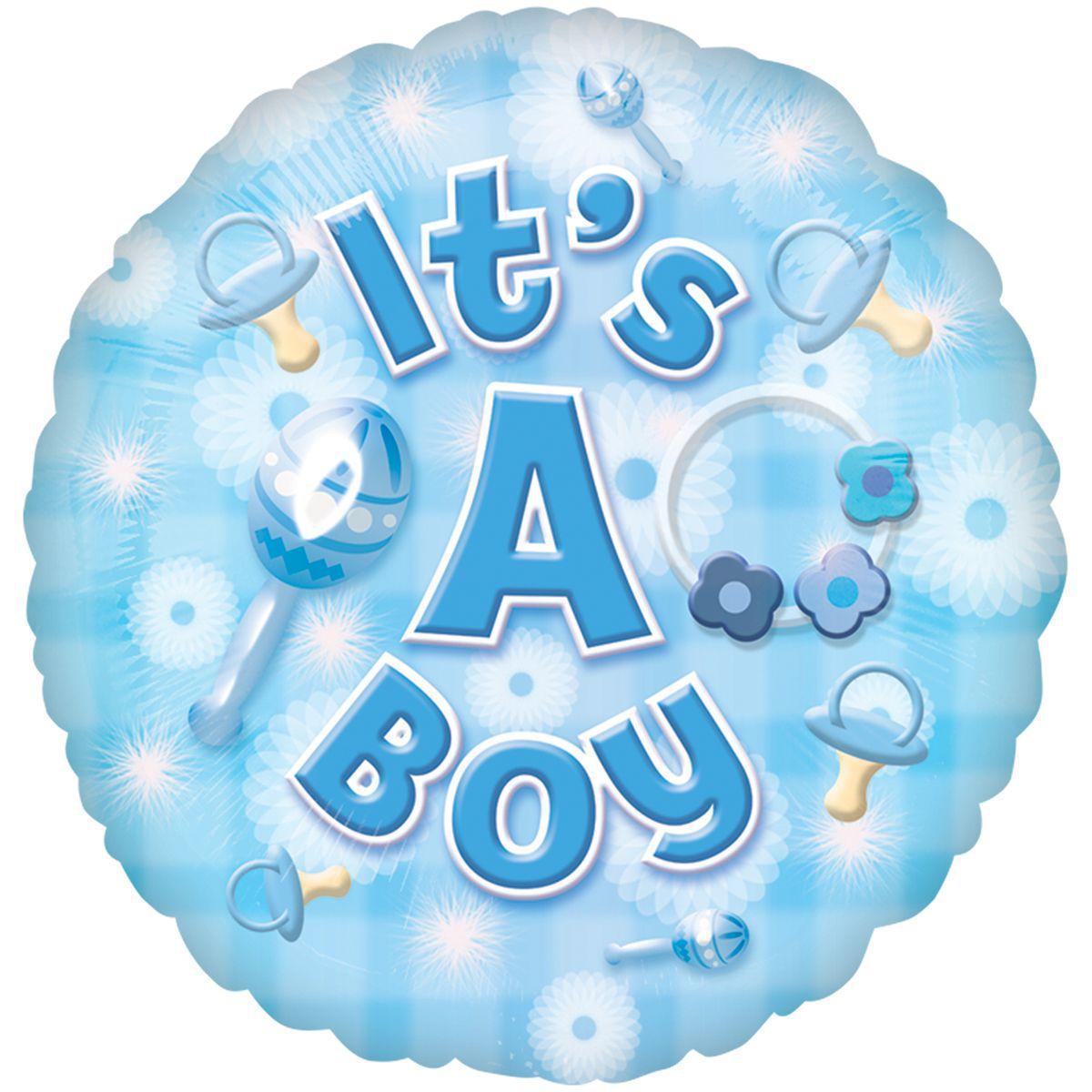 Фольгированный шар Baby boy круг 46см гелий