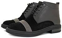 Женские ботинки Olli на низком удобной каблуке.