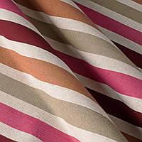 Ткань для штор в разноцветную полоску