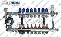Коллектор 8 контуров в сборе со смесительным узлом CLM Therm