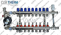 Коллектор 10 контуров в сборе со смесительным узлом CLM Therm