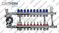Коллектор 11 контуров в сборе со смесительным узлом CLM Therm