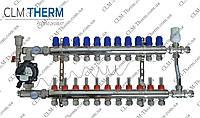 Коллектор  12 контуров в сборе со смесительным узлом CLM Therm