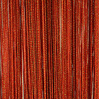 Однотонные шторы нити Люрекс №143 Красный с золотом