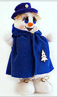 Мягкая новогодняя игрушка Снеговик 32 см Boy Blue