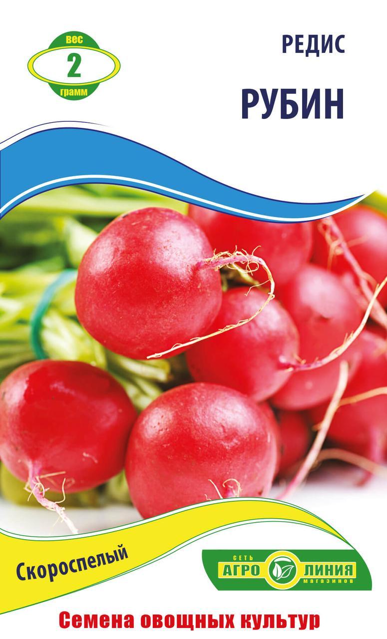Семена редиса сорт РУбин 2 гр ТМ Агролиния - Agroline. в Одессе