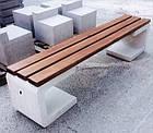 Лавка садово-парковая без спинки с бетонным основанием №4, фото 3