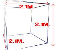 Металлоконструкция 3Д для баннера