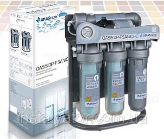 Система обратного осмоса Atlas Filtri OASIS DP-F Sanic PUMP-UV с насосом, уф. лампой и минерализатором