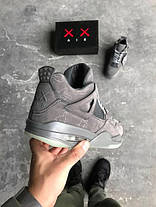 Баскетбольные кроссовки Nike Air Jordan 4 Retro Kaws Cool Grey White, фото 2