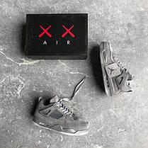 Баскетбольные кроссовки Nike Air Jordan 4 Retro Kaws Cool Grey White, фото 3