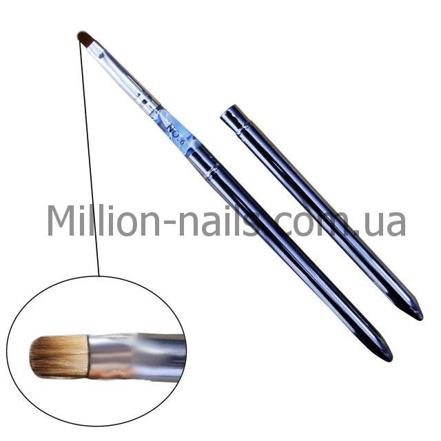 Овальные кисти для наращивания гелевых ногтей
