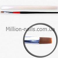 Кисти для геля №8, красно-чёрная ручка