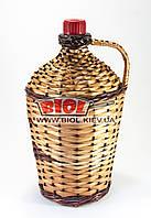 """Бутылка 4,5л стеклянная с пластиковой крышкой """"Ровоам"""" оплетенная лозой"""