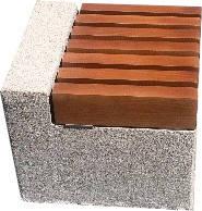 Лавка короткая садово-парковая без спинки с бетонным основанием для шахматного стола №7