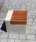 Лавка короткая садово-парковая без спинки с бетонным основанием для шахматного стола №10, фото 2