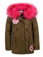 Куртки утепленные на девочек оптом Glo-story 134 /140-170 см, №.GSX-5614