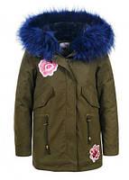 Куртки утепленные на девочек оптом Glo-story 134 /140-170 см, №.GSX-5615