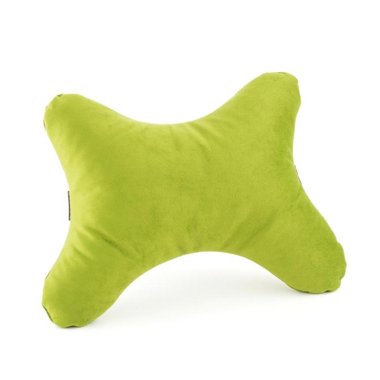 Дорожная подушка под голову BONE зеленый флок_под нанесение, фото 1