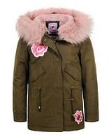 Куртки утепленные на девочек оптом Glo-story 134 /140-170 см, №.GSX-5616