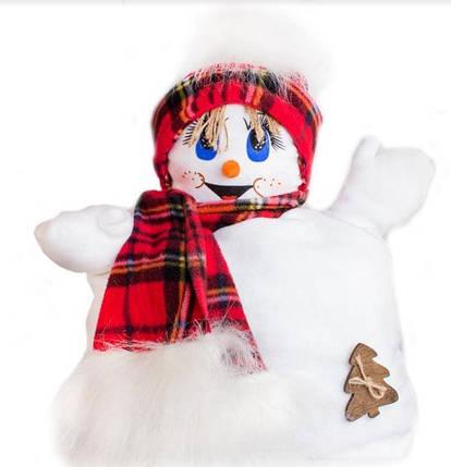 Снеговик-подушка 42х30 см BR-13, фото 2