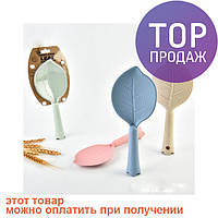 Лопатка Листик (розовая) / товары для кухни