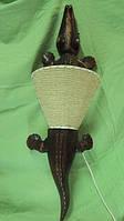 Светильник деревянный Крокодил длина 100см