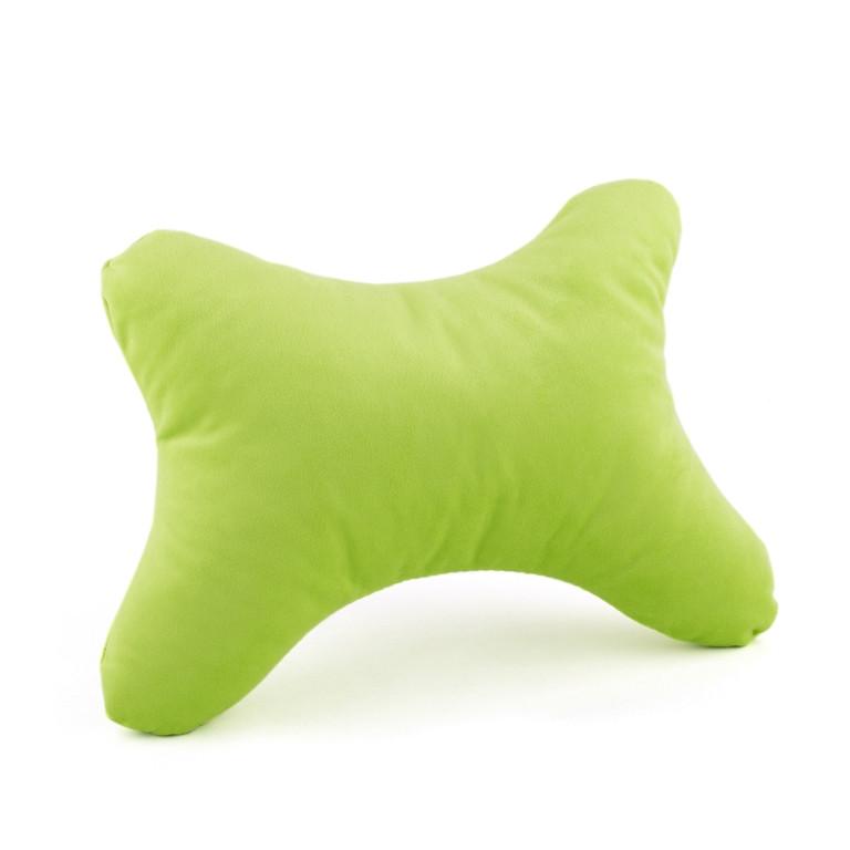Дорожная подушка под голову BONE светло зеленый флок_под нанесение, фото 1